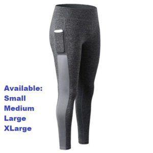 Gray leggings with pocket